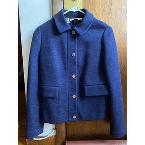 Tory Burch Navy Cotton Jacket XS